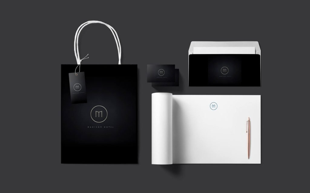 Hotel branding designed by Instinct creative.